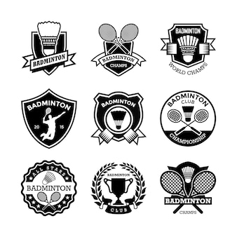 Badminton badges
