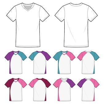 Badminton blank camisetas desenhos de moda. lineart
