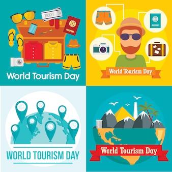 Bagagem de viagem do dia mundial do turismo