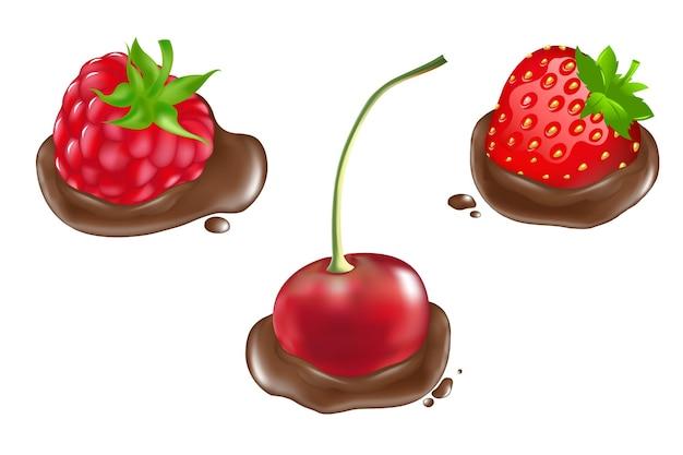 Bagas em chocolate