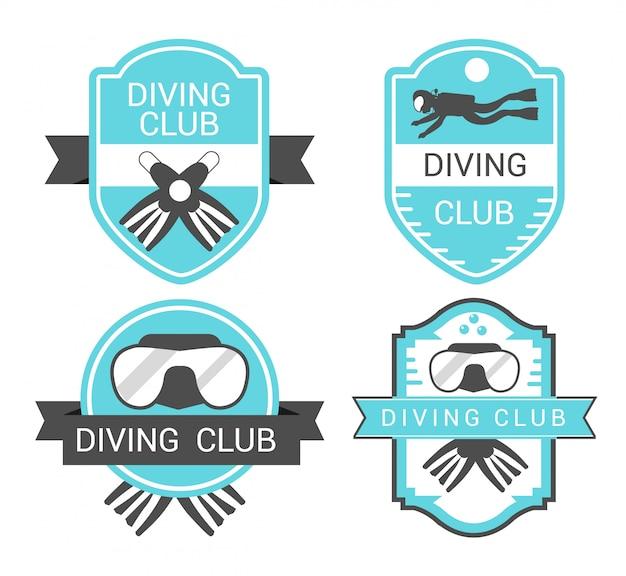 Bages do clube de mergulho