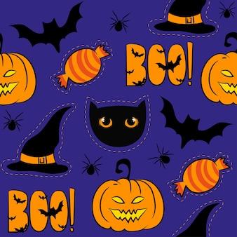 Baground de padrão sem emenda de halloween. ilustração vetorial eps 8