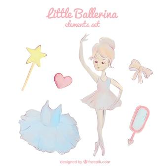Bailarina pequena em aquarela