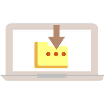 Baixar documento arquivo ícone pasta vetor símbolo