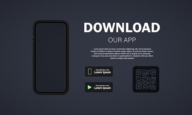 Baixe nossa nova ilustração de aplicativo móvel
