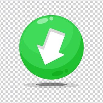Baixe o botão de sinal em um fundo em branco