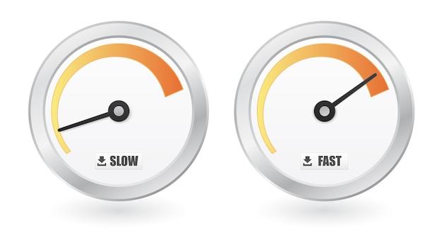 Baixe o ícone do medidor de velocidade da internet