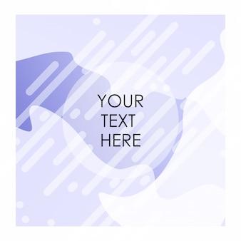 Bakcground de cor branca e roxa com vetor typogrpahy