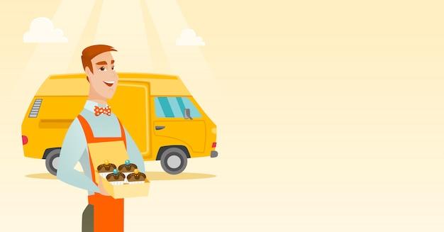 Baker, entregando bolos.