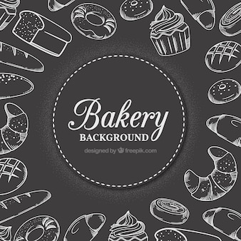 Bakery background com doces