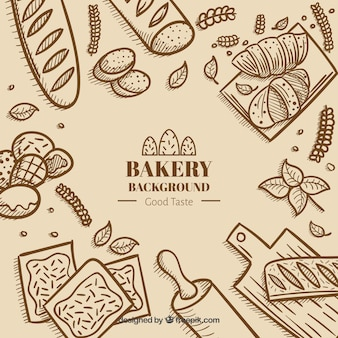 Bakery background in flat style