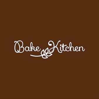 Bakery logo simple text bake kitchen
