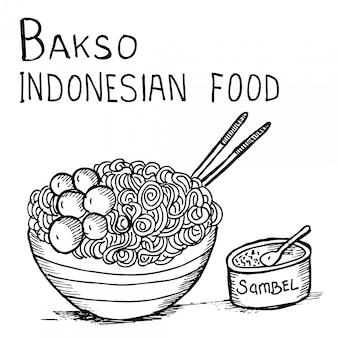 Bakso, comida indonésia
