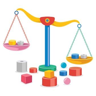 Balança da justiça, equilíbrio de peso