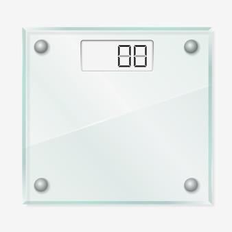 Balanças de vidro Vetor Premium