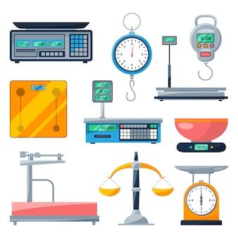 Balanças eletrônicas, balanças e outros tipos de balanças