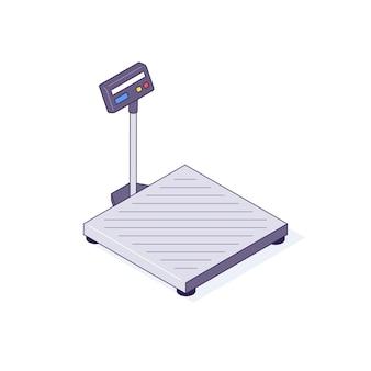 Balanças isométricas para caixas paletes pacotes ilustração de mercadorias