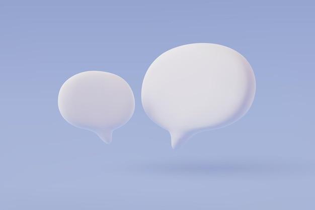 Balão 3d. vetor falante, caixa de bate-papo, balão de diálogo de mensagem, vetor eps 10