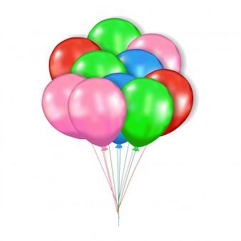 Balão colorido 3d