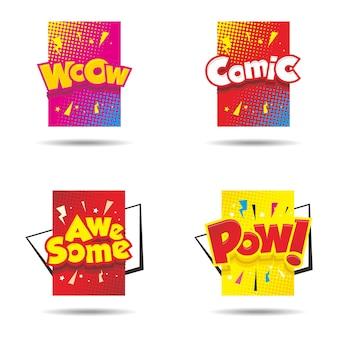 Balão colorido em quadrinhos com texto