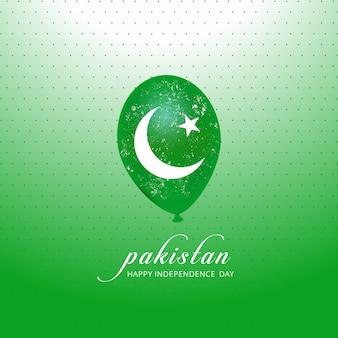 Balão da bandeira do paquistão para o dia da independência