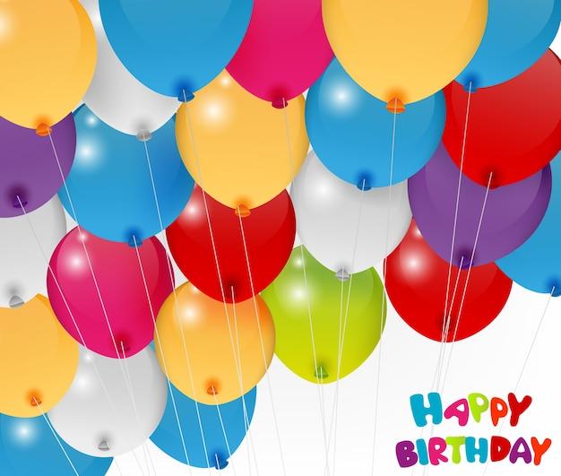 Balão de aniversário colorido