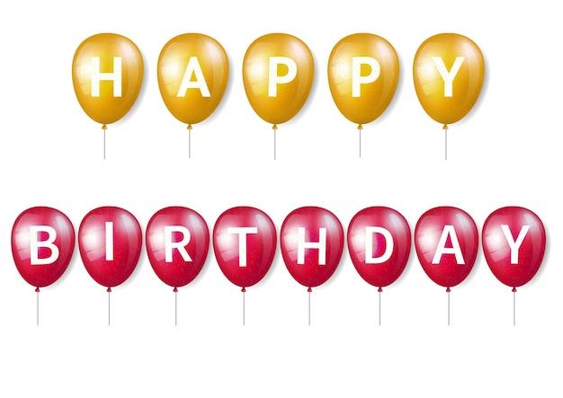 Balão de aniversário com letras