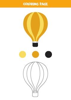 Balão de ar colorido dos desenhos animados. planilha para crianças.
