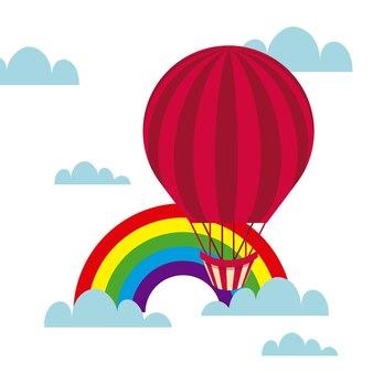 Balão de ar colorido