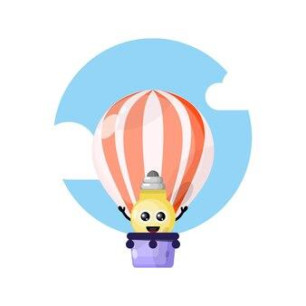 Balão de ar leve mascote personagem fofa