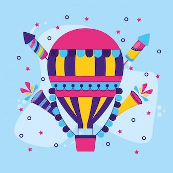 Balão de ar quente de carnaval