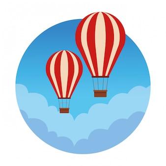Balão de ar quente de viagem