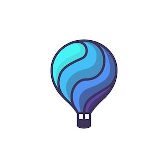 Balão de ar quente. ilustração dos desenhos animados de balão de ar quente