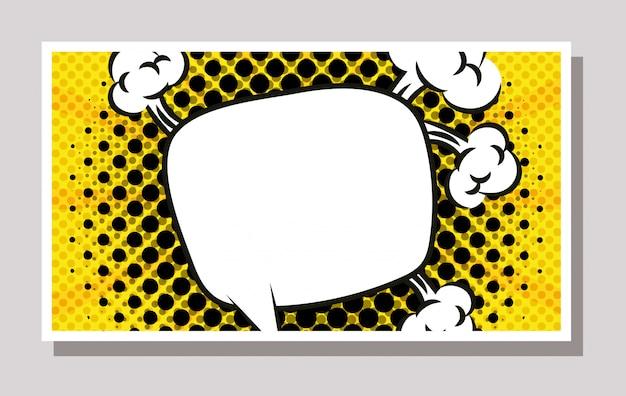 Balão de expressão no estilo pop art
