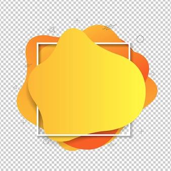 Balão de fala amarelo isolado
