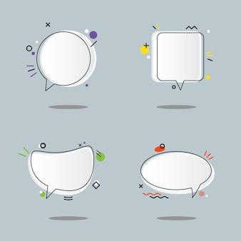 Balão de fala com design de coleção de desenho geométrico