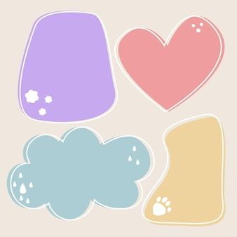 Balão de fala com diferentes formas
