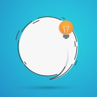Balão de fala com lâmpada