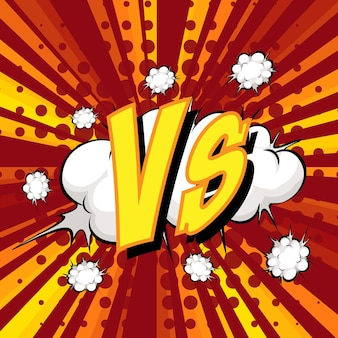 Balão de fala cômico com redação vs