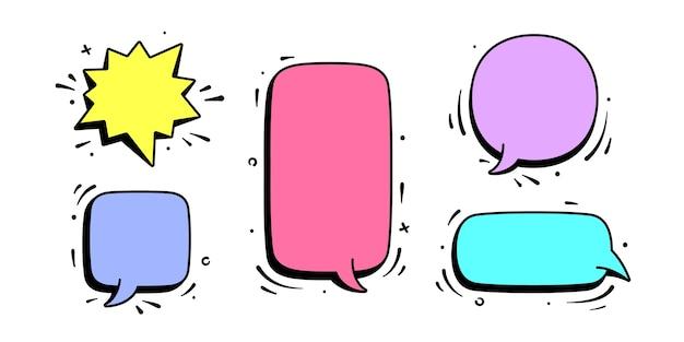 Balão de fala. conjunto de mensagem de bate-papo, conversa na nuvem, balão de fala