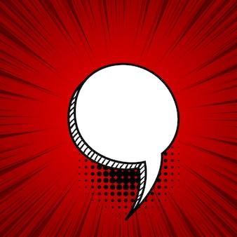 Balão de fala de texto em quadrinhos vazio frase de efeito sonoro de estilo pop art colorido
