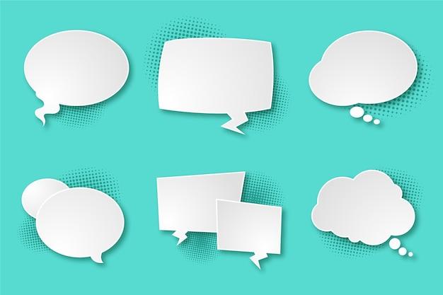Balão de fala em estilo de papel