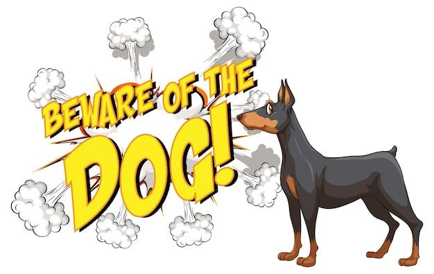 Balão de fala em quadrinhos com cuidado com o texto do cachorro