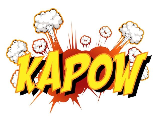 Balão de fala em quadrinhos com texto kapow