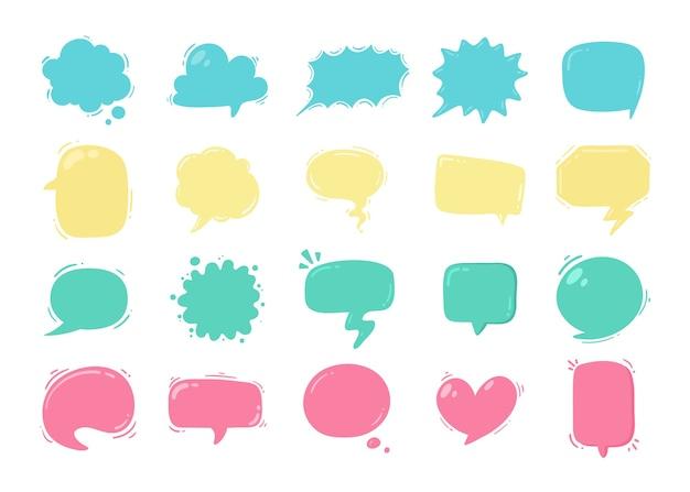 Balão de fala para entrar em mensagens de conversa e pensamentos de personagens de desenhos animados