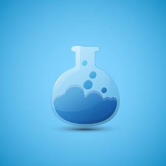 Balão de laboratório químico