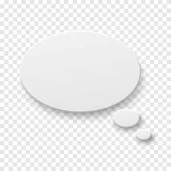 Balão de papel em branco branco de vetor