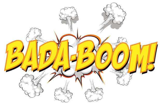 Balão de quadrinhos com texto bada-boom