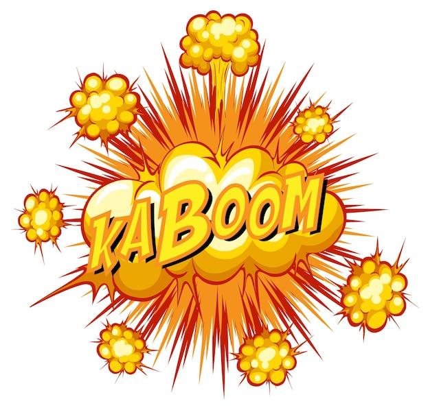 Balão de quadrinhos com texto kaboom