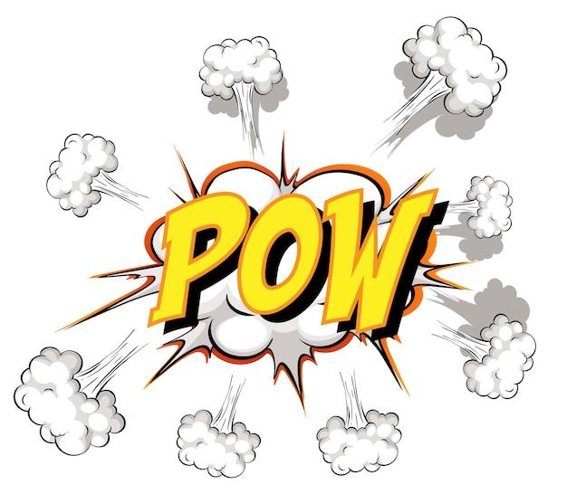 Balão de quadrinhos com texto pow